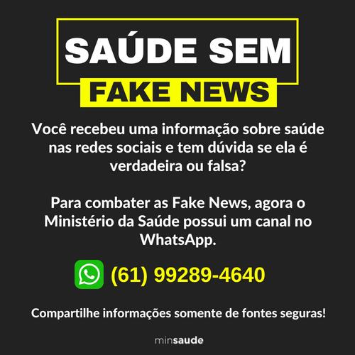 Banner: Saúde sem Fake News