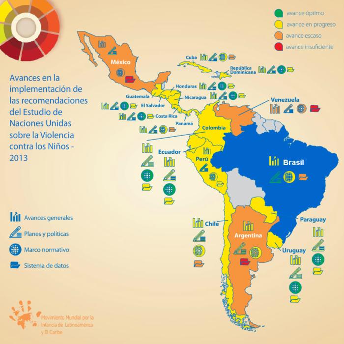 Mapa de la violencia contra niños y niñas en América Latina
