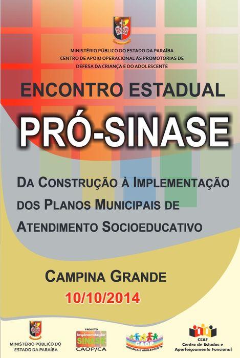BANNER - MPPB promove Encontro Estadual Pró-Sinase
