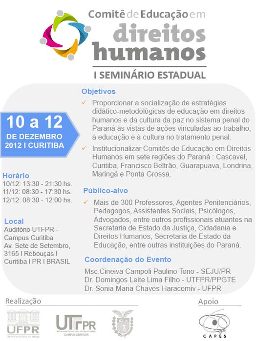 I Seminário Estadual em Direitos Humanos e Cultura da Paz
