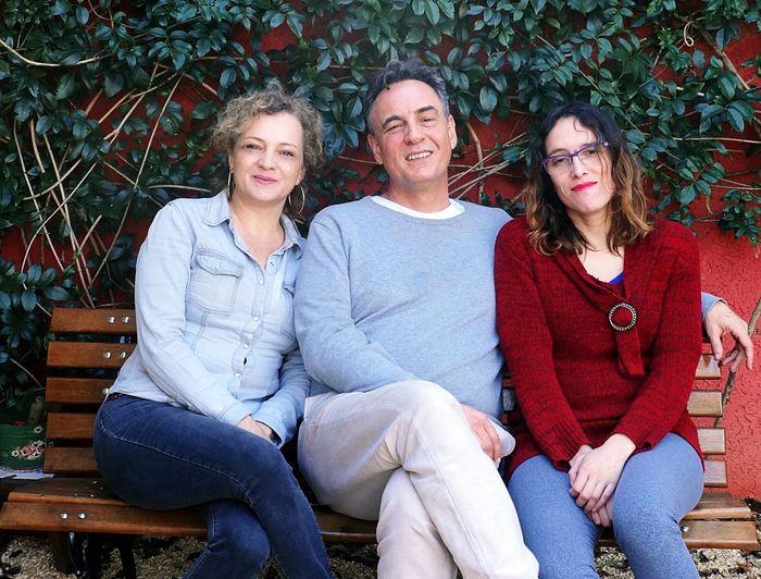 Família: Bia, Vicente e Gizah