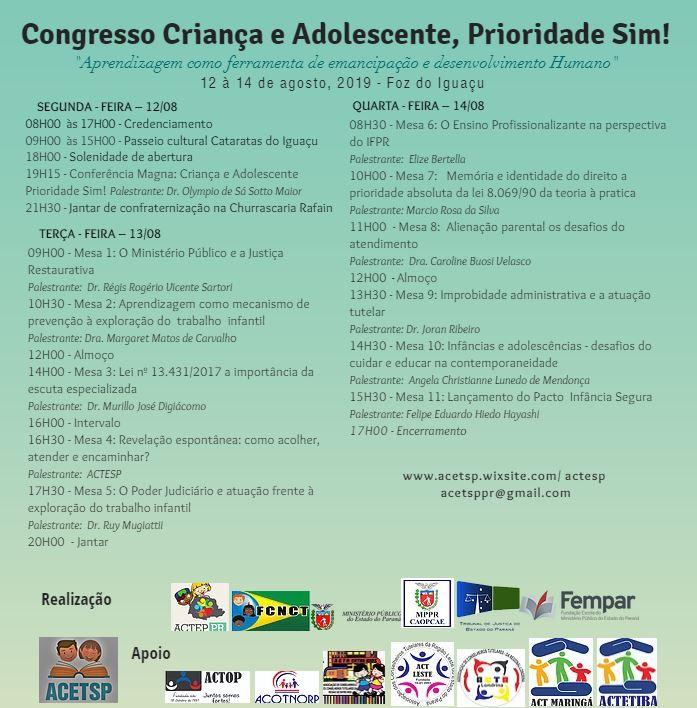Congresso Criança e Adolescente, Prioridade Sim!
