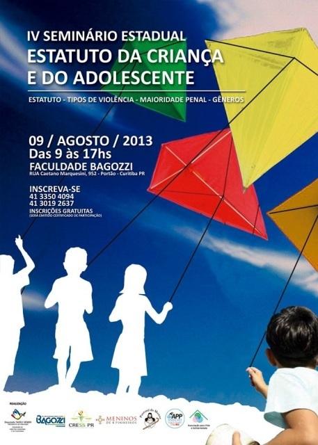 CARTAZ - IV Seminário Estadual Estatuto da Criança e do Adolescente