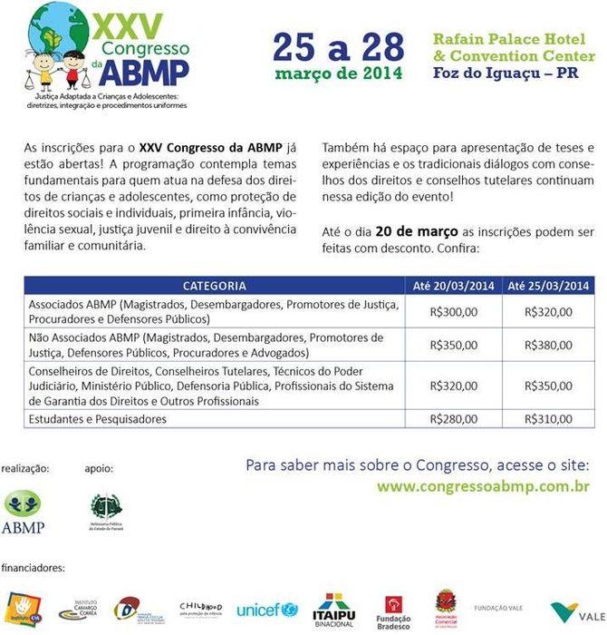 XXV Congresso da ABMP