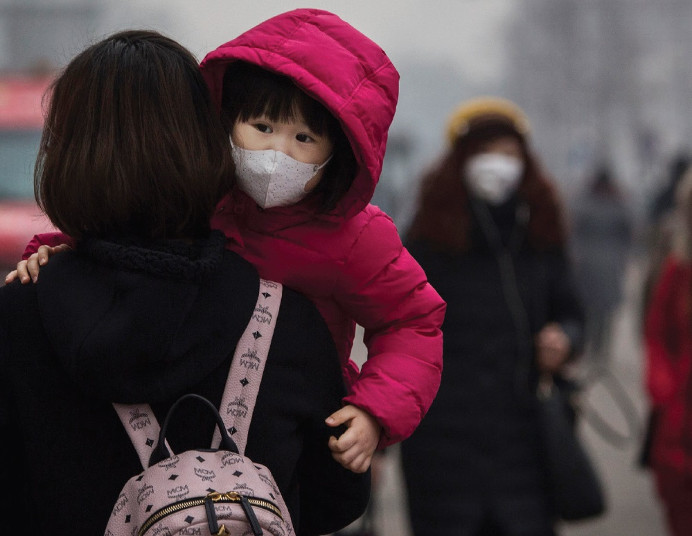 Menina - Problemas respiratórios