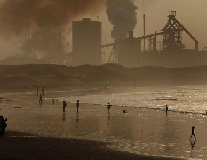 Praia - Poluição industrial