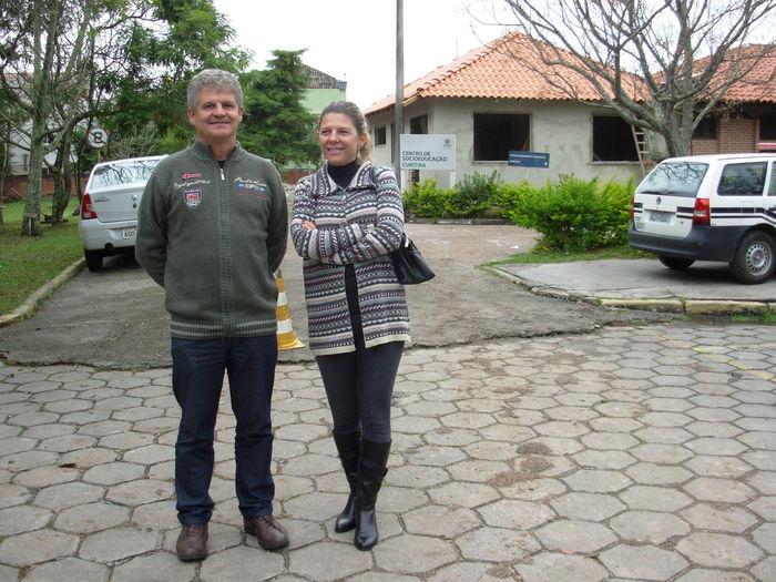 Charifa El Tassa e Fernando Guiraud em visita ao Cense Curitiba (17/05/2013 - Foto de Régis Sant'Ana Júnior - CAOPCAE/MP-PR)
